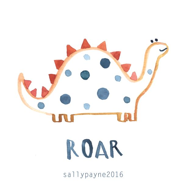Sally Payne | Illustration and Surface Pattern Designer, cute character, kids, dino, nature, lettering, pattern, placement, children's, orange, boys, dinosaur
