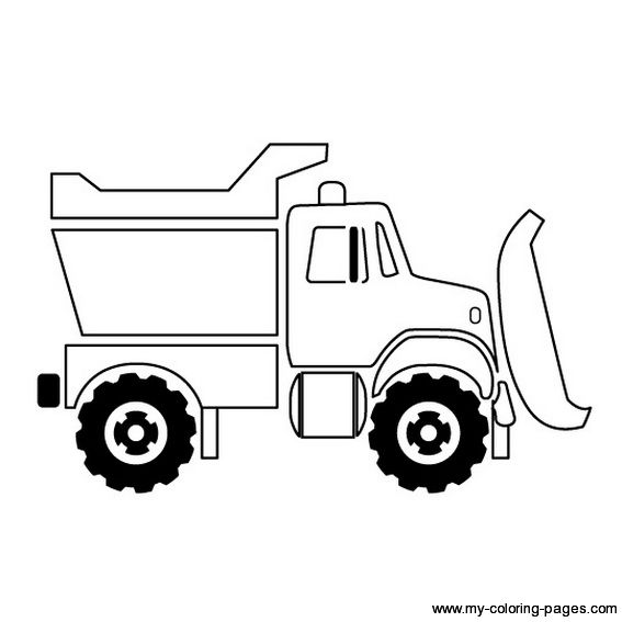 Dump Truck 6 Toddlers Coloring Pages Construction For Kids And Trucks