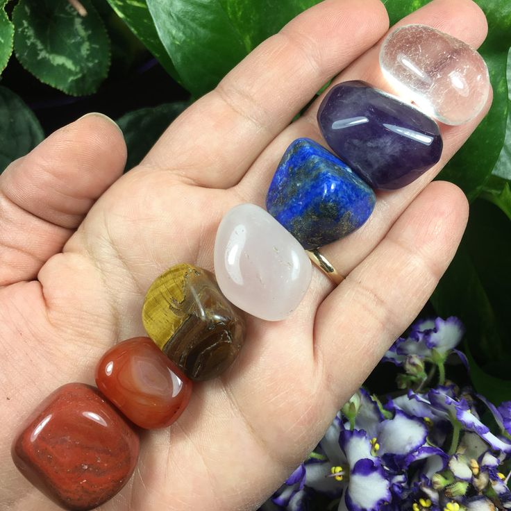 7 Piece Tumbled Stone Chakra Set Chosen at Random, Chakra Crystals, Chakra Stones, Chakra Sets, Chakra Quartz Crystals, Tumbled Stones, by TheSacredCrystal on Etsy