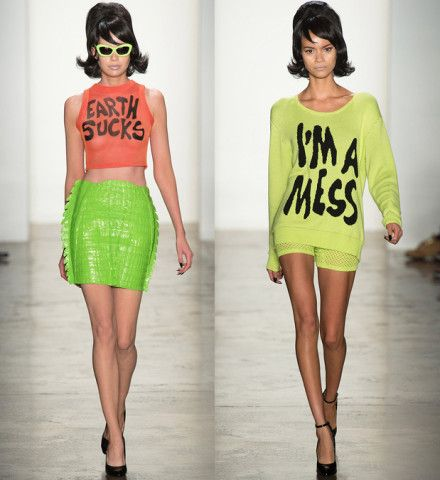 Text Me Maybe? 18 Fashion Slogans You'll Want to Wear – Vogue - EARTH SUCKS and I
