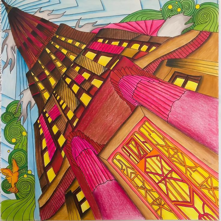Themagicalcitycolouringbook Lizziemarycullen Coloring BooksColouring PerspectivePencilPaintingPaintings