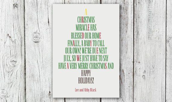 Adorable Christmas Tree Pregnancy Announcement!