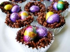 Chocolate Crackle Egg Baskets Recipe - Easter treats