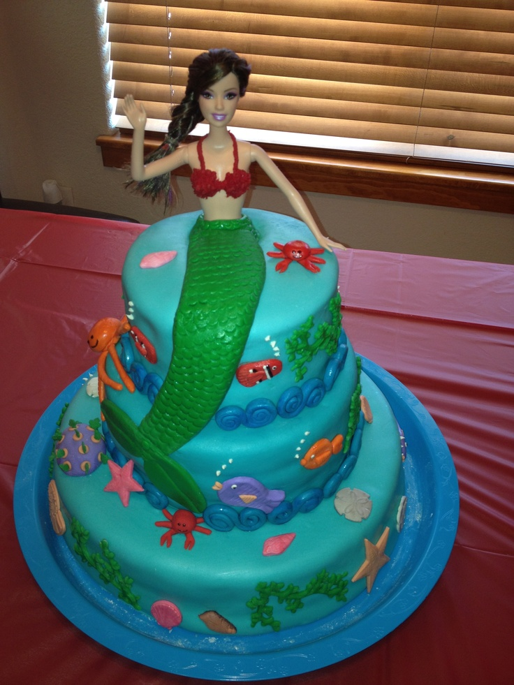 Barbie Mermaid Cake Images : Barbie mermaid cake Cakes! Pinterest Barbie ...