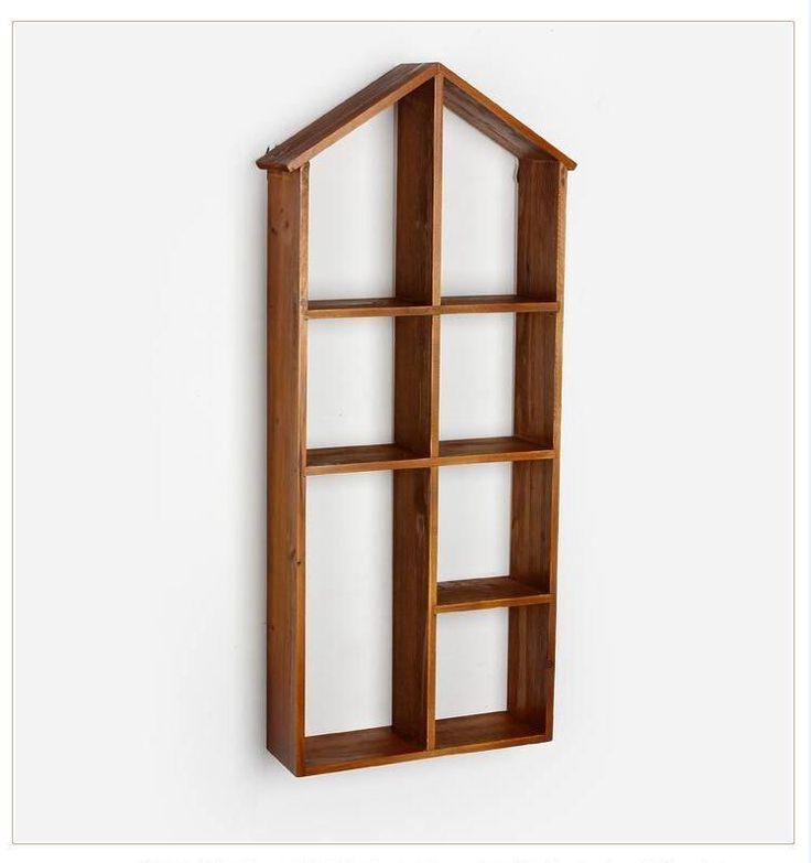 Camadas de madeira tipo de armazenamento Prateleira de parede De Madeira Prateleira de Supermercado Titulares Para O banheiro cozinha titular caixa de armazenamento de Decoração Da Casa Do Vintage