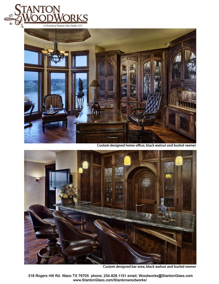 Custom Home Office And Bar