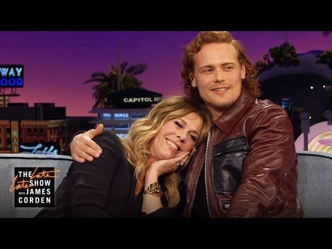 Video of Sam Heughan on 'The Late Late Show with James Corden' | Outlander Online