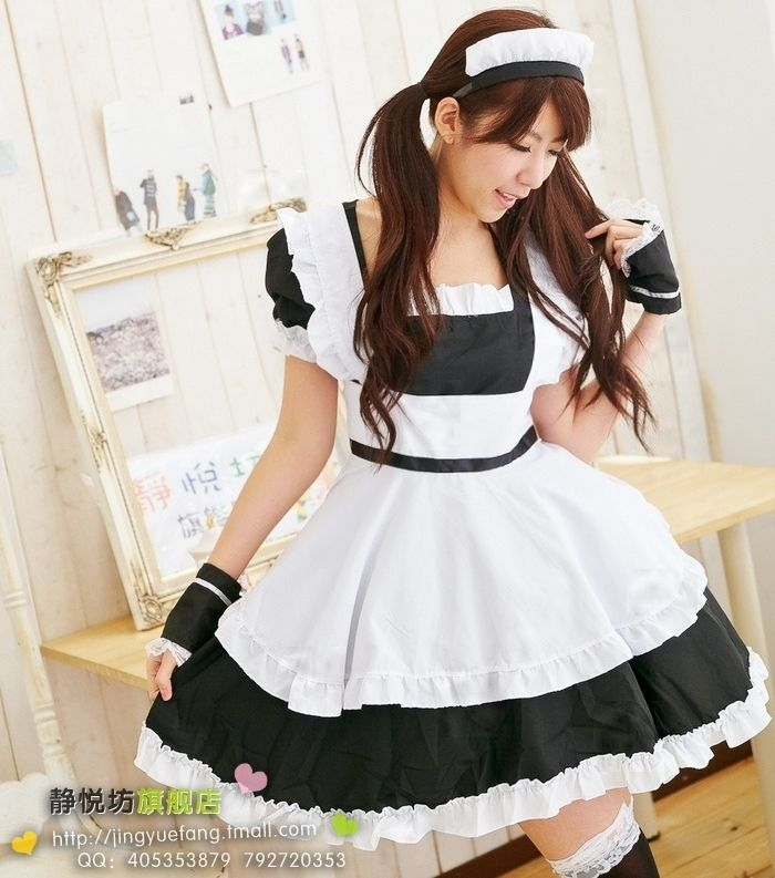 Black and white princess dress cosplay maid lolita costume on AliExpress.com. 15% off $24.18