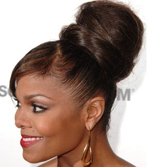 Janet Jackson Updo Hairstyles