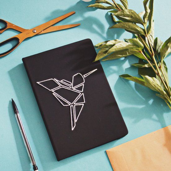 Homemade Book Cover Ideas ~ Restyle your notebook in minutes by embroidering an