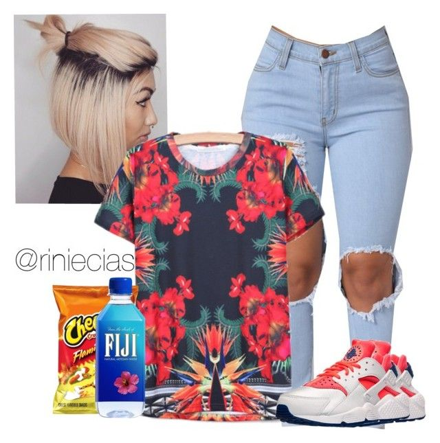 """Run the street with yo thugs ~ Kirko Bangz"" by riniecias ❤ liked on Polyvore featuring INDIE HAIR and NIKE"