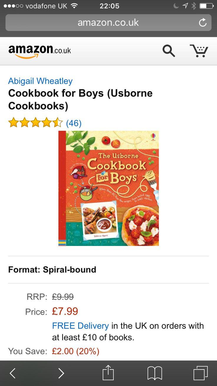 Boys cook book