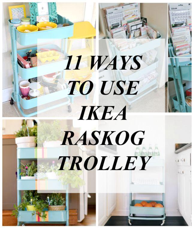 11Ways To Use Ikea Raskog Trolley | Ikea trolley