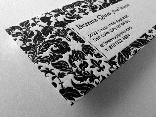 Business Card: Brenna Quan, Creative Business Cards, Logo Design, Business Card Design, Pattern Design, Businesscarddesign, Letterpresses Business, Business Cards Design, Design Blog