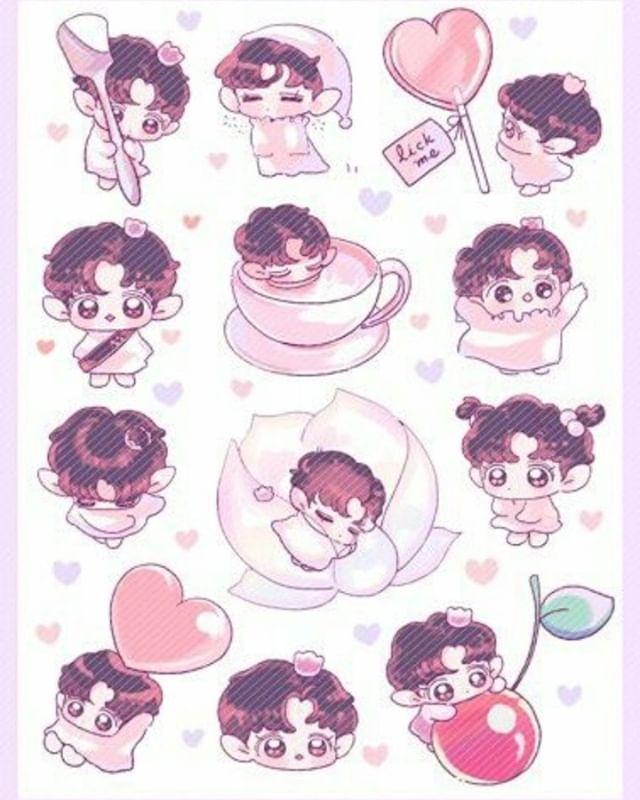 Image Result For Kpop Idols Gambar Lucu Stiker Gambar