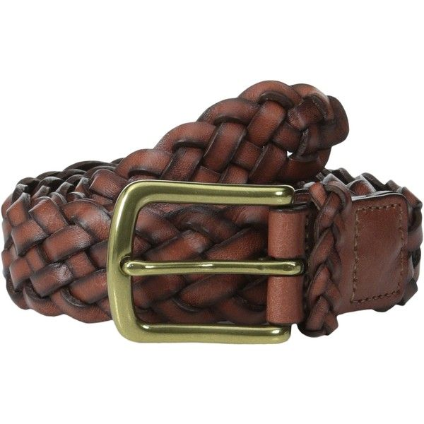 Torino Leather Co. 30MM Braided Harness (Dark Tan) Men's Belts ($31) ❤ liked on Polyvore featuring men's fashion, men's accessories, men's belts, brown, mens brown braided leather belt, mens braided leather belt, mens brown belt, mens braided belts and mens brown leather belt
