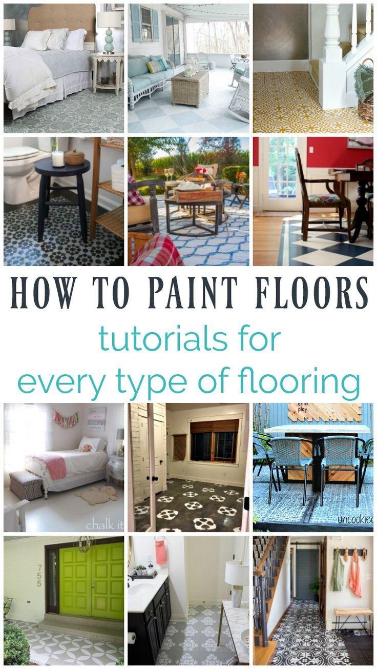 15 Gorgeous Painted Floors Ideas For Every Type Of Flooring Lovely Etc Funky Home Decor Types Of Flooring Vinyl Flooring
