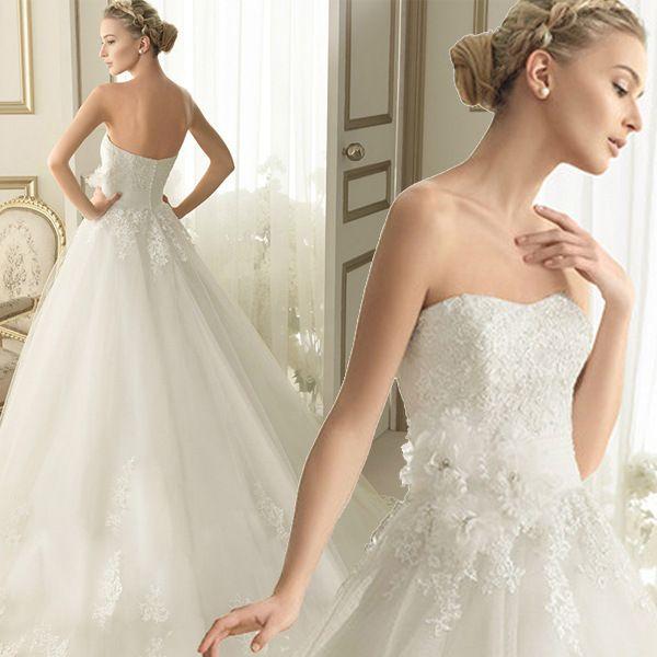 Свадьба платье без бретелек трапециевидный свадьба платья свадебное платье обычный заказ платья noiva