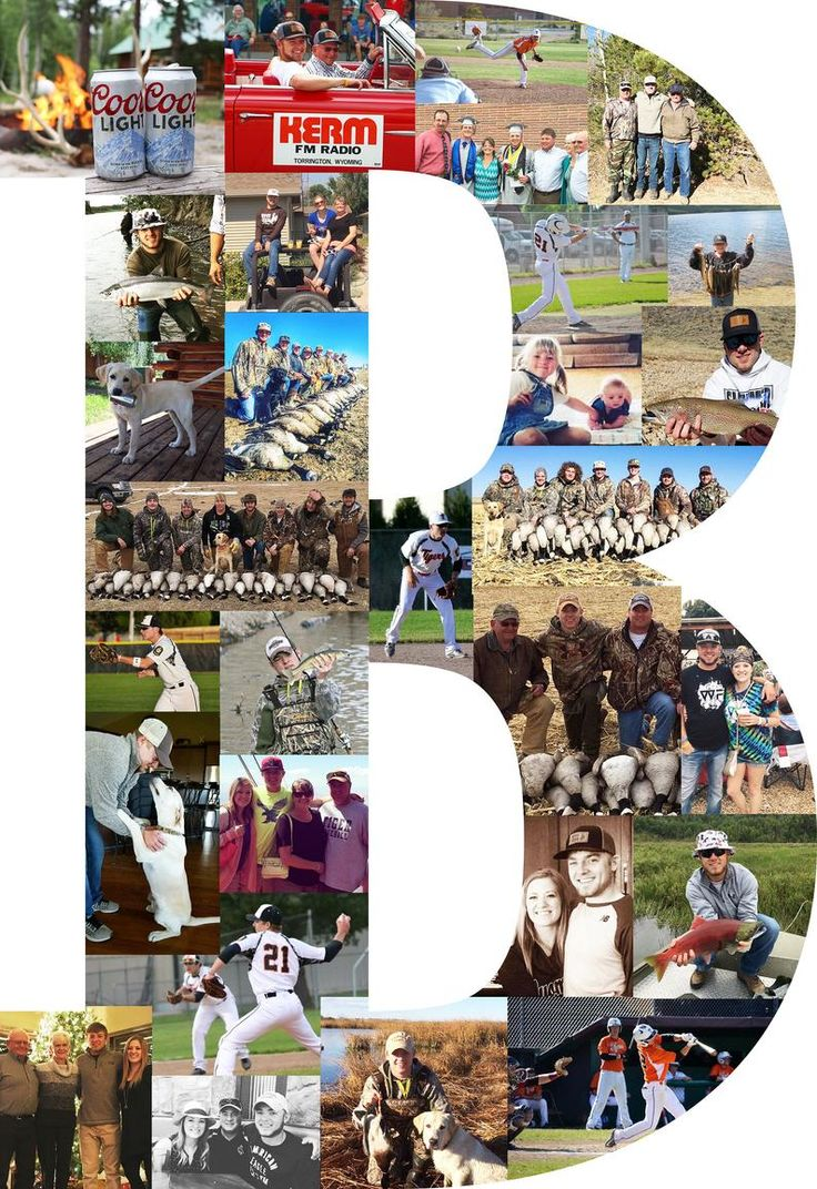 Custom Photo Collage Print, Letter Photo Collage, Personal
