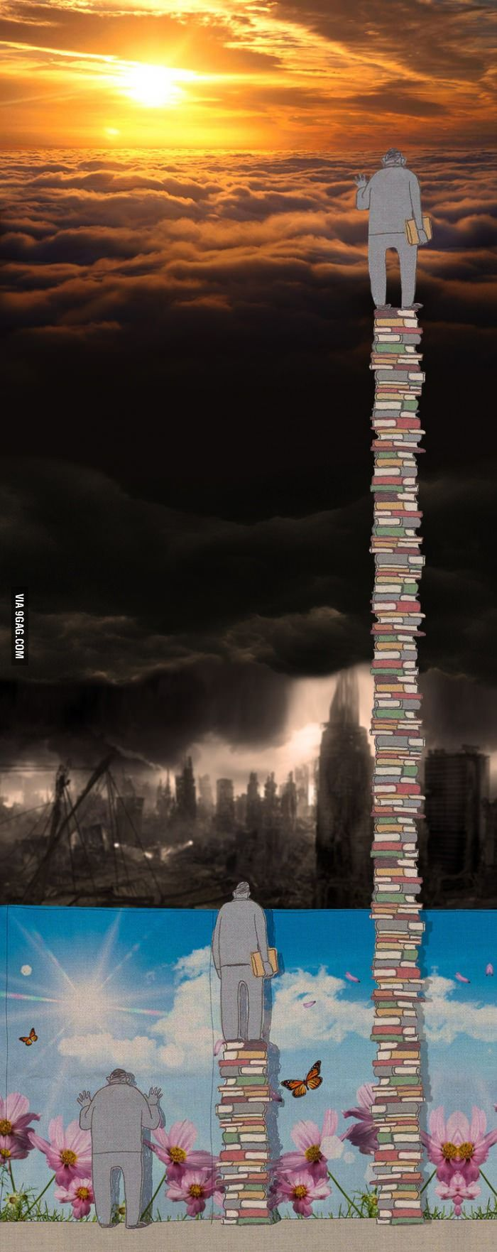 We get a little taller by reading.