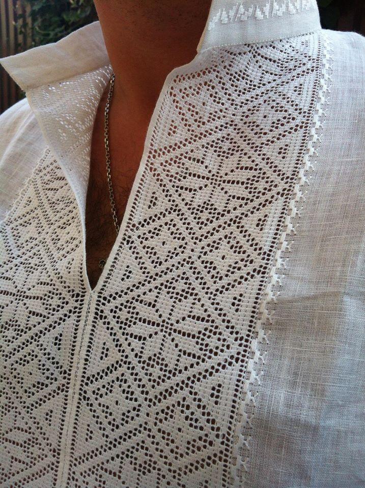Ukrainian folk embroidery for men