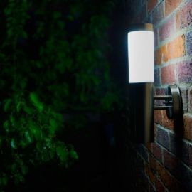 Buy Canterbury Solar Wall Light - Silver and White from our Solar Lights range - Tesco