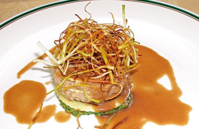 Lasagnetta di topinambur e gamberetti alla tartara di broccoli  #lamadia #lamadiatravelfood #food