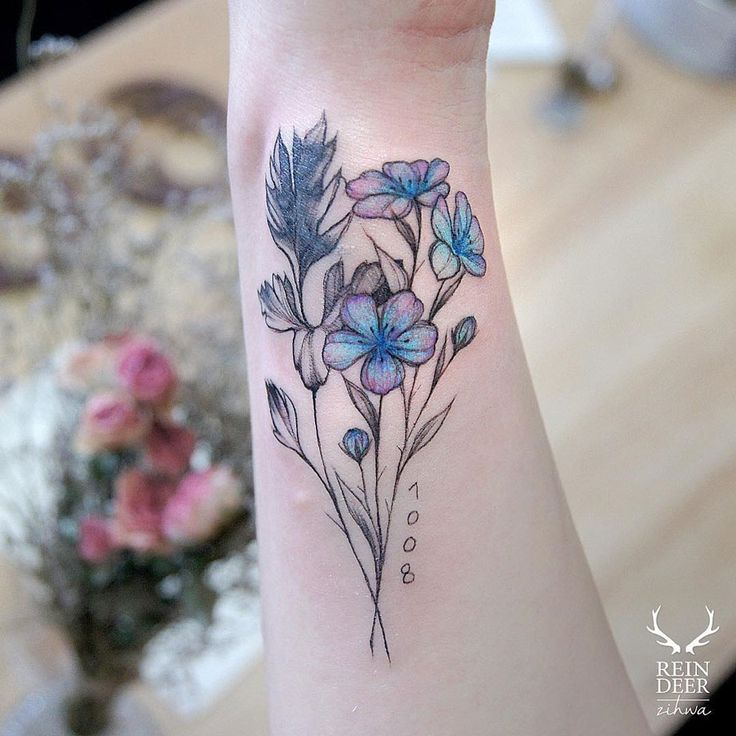 Pink Flower Tattoo: 409 Best Images About On Pinterest
