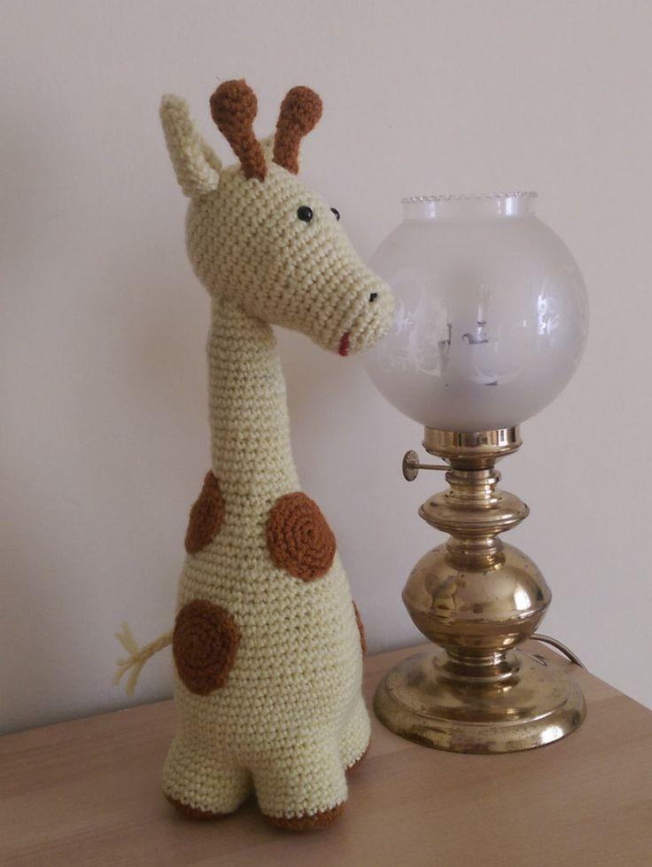 giraffe, stuffed toy, child toy, gift, hand made, crocher toy, by SmallworldByAnna on Etsy