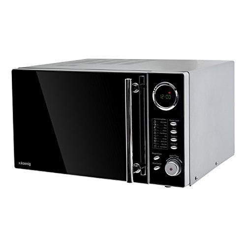 H.Koenig VIO9 Micro-Ondes et Grill Inox – Programmable, 25 L: Cuisson micro-ondes, grill ou combinée 10 menus de cuisson préprogrammés…