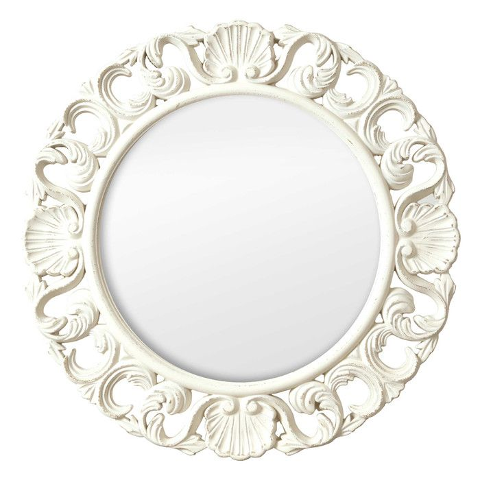 Selections by Chaumont Casa Vintage Ornate Circular Mirror & Reviews | Wayfair