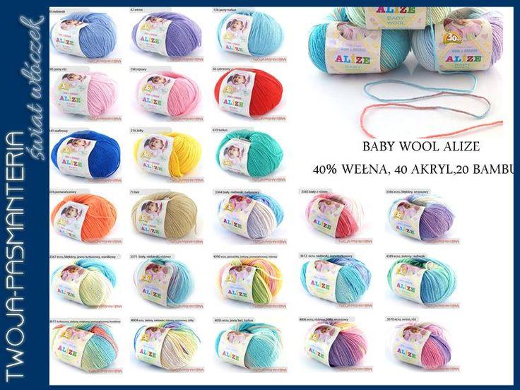 Baby Wool Batik  ALIZE-wełna, bambus, akryl. Bardzo mięciutka i delikatna włóczka dla dzieci
