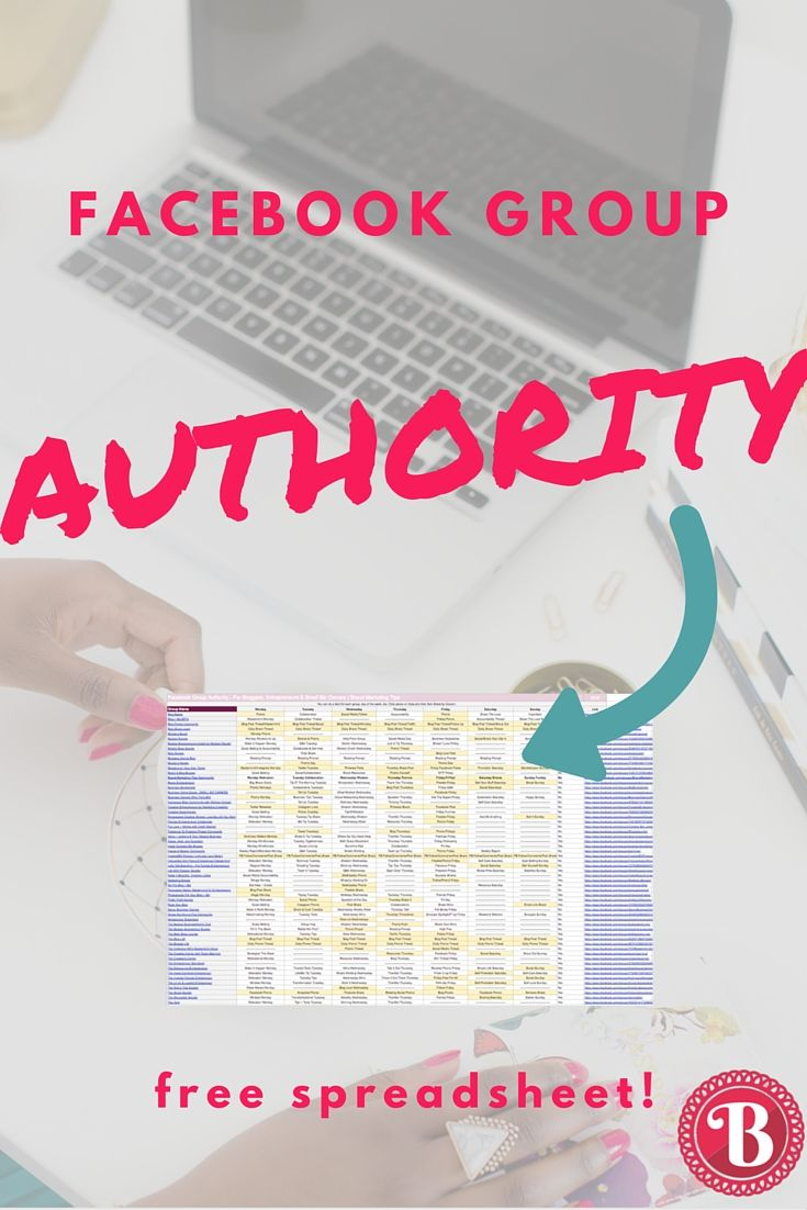 Having trouble keeping up with all of the insightful and engaging Facebook groups you've joined? Or not sure which groups are worth your time to join? Download our spreadsheet with 65 of our favorite Facebook groups & a weekly schedule detailing their daily prompts and promo days. Perfect for bloggers, entrepreneurs & small biz owners!