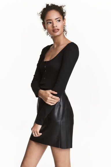 Jarse Üst - Siyah - Ladies   H&M TR
