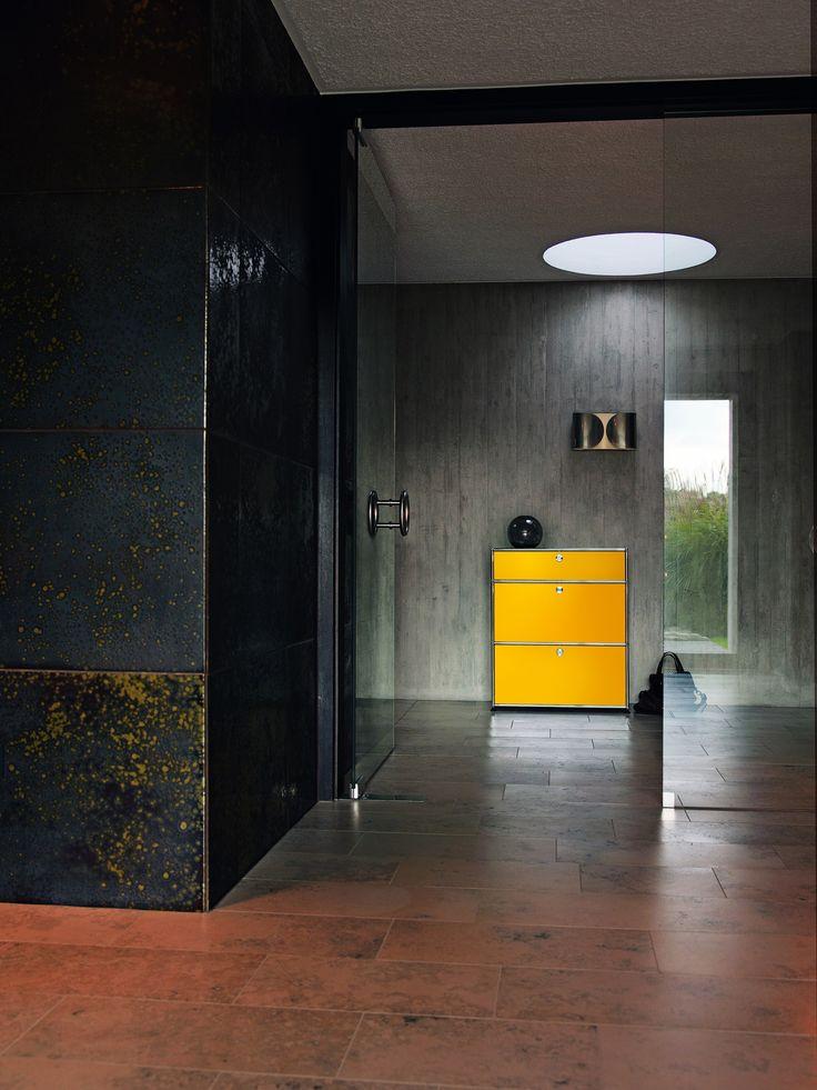 Sectional lacquered metal chest of drawers USM Haller Living Room Storage USM Haller Collection by USM Modular Furniture   design Fritz Haller