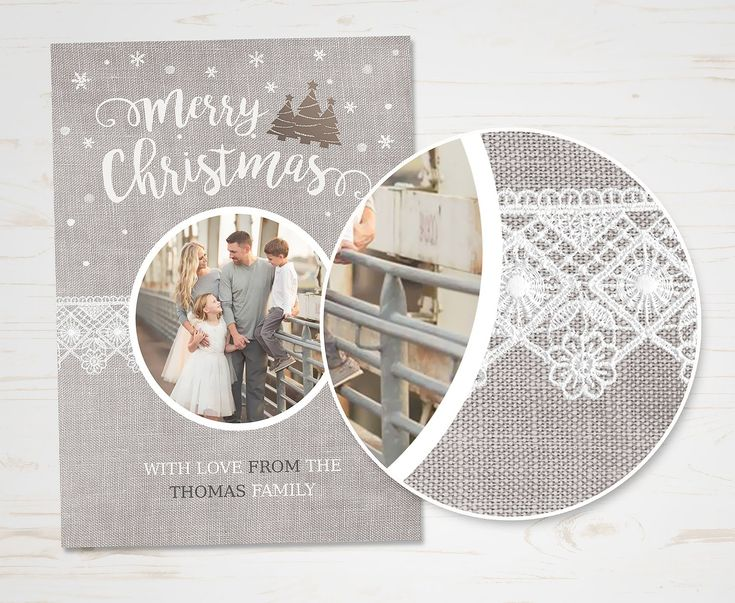 Christmas Card Template by TheSeventhDesire on @creativemarket