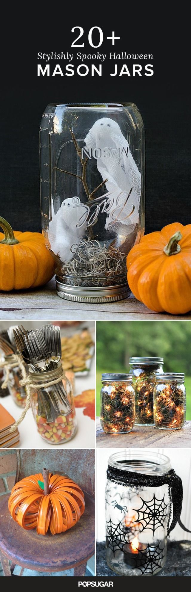 Halloween offers a great opportunity to use mason jars in brand new ways. They're the perfect base for a number of Halloween DIY projects, including tabletop pieces and spooky party decor.
