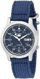 Seiko Men's SNK807 Seiko 5 Automatic Stainless Steel Watch with Blue Canvas Band Check https://www.carrywatches.com Seiko Men's SNK807 Seiko 5 Automatic Stainless Steel Watch with Blue Canvas Band