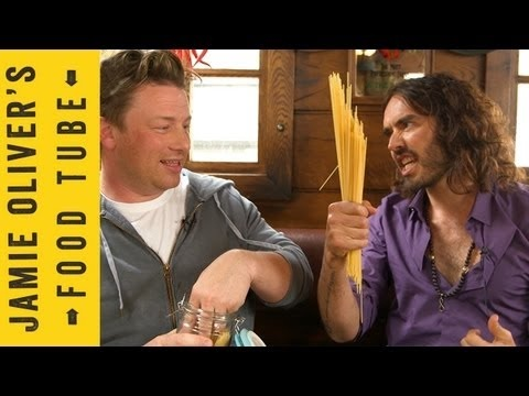 The name is ??, but the pasta is amazing and it's a favourite with the kids (who even like to help prepare it). They will eat second helpings! Jamie Oliver and Russell Brand cook Booby Pasta