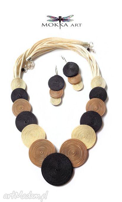 • komplety, biżuteria - komplet sutasz mokkaspiral - Mokkaa