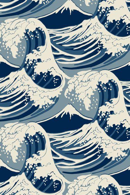 Cole & Son Great Wave - Wallpaper Ideas & Designs - Living Room & Bedroom (houseandgarden.co.uk)