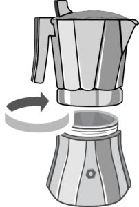A step by step tutorial, on how to properly brew a stovetop espresso with Osaka's Nijo Castle Moka pot. Including visuals and tips. #coffee #guide #brewing #stovetop #espresso