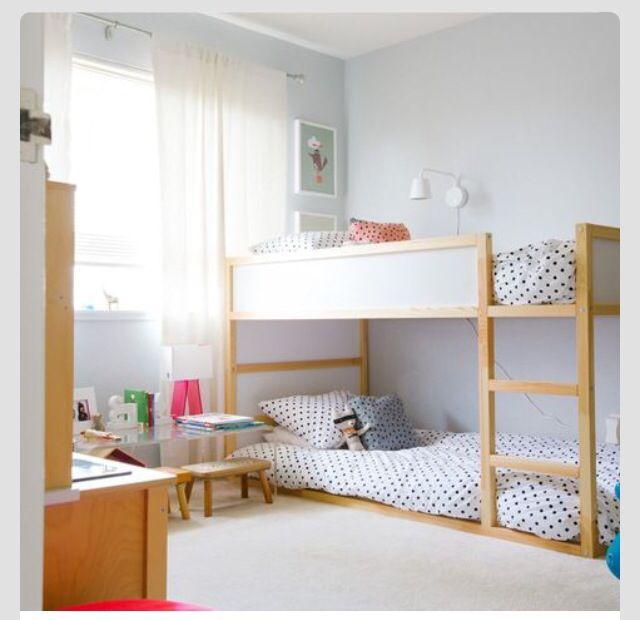 Ikea Bunk Bed Cama Ikea Kura Quartos Compartilhados De