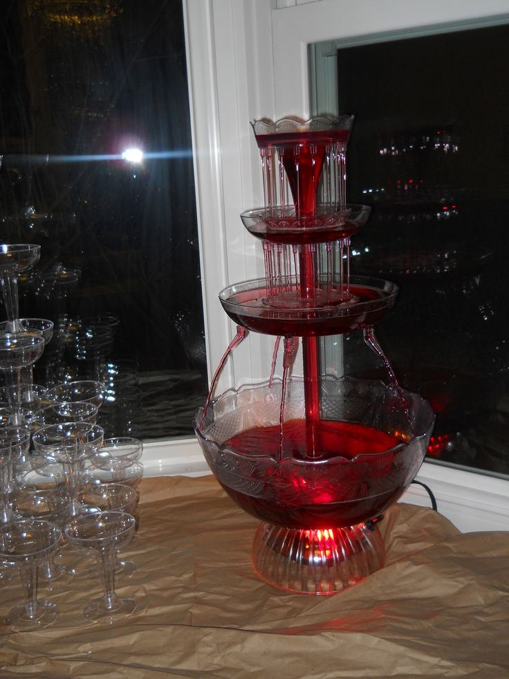 I think Megan has a drink fountain. Let's borrow it instead of a traditional punch bowl