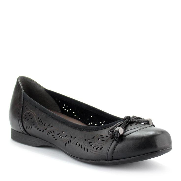 Masnis orrú Jana balerina cipő | ChiX.hu cipő webáruházFekete színű lapos Jana balerina cipő. Könnyű, kényelmes kerek orrú női cipő, orrán masni dísszel. Márka: Jana Szín: Black Modellszám: 8-22102-24 001