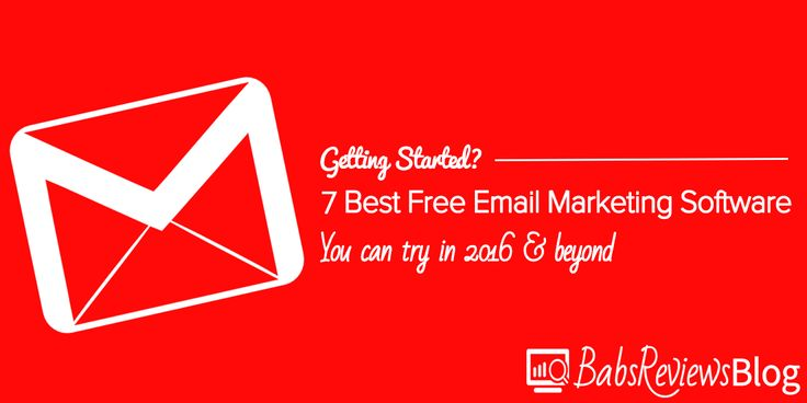 Are there free or almost free email marketing software services you can get started with? Absolutely!