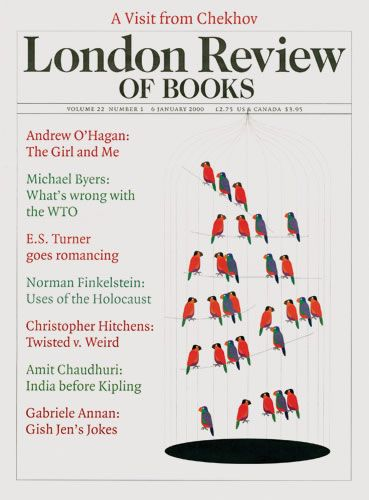 London Review of Books. 6 January 2000. Cover: Peter Campbell.