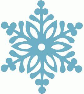 Copo de nieve para cortar con tu Silhouette Cameo, Curio o Portrait.