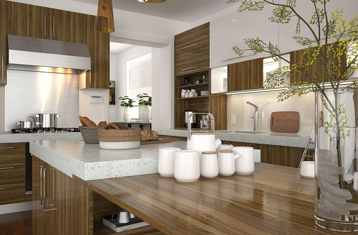 OP15-M09: Modern Melamine and Lacquer Kitchen Cabinet
