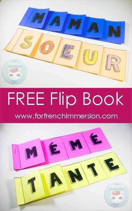 Free French Mother's Day Flip Book - with alternative version for those who don't have moms - pour la fête des mères en français